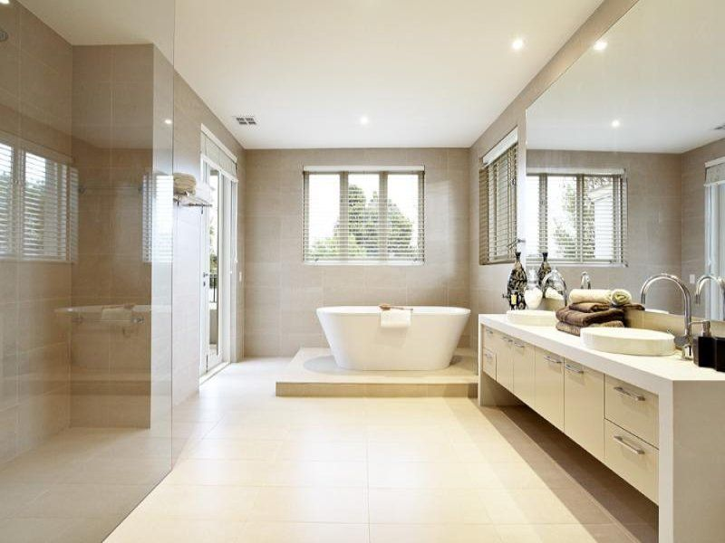 modern bathroom design with freestanding bath using frameless glass bathroom photo 206583. Interior Design Ideas. Home Design Ideas