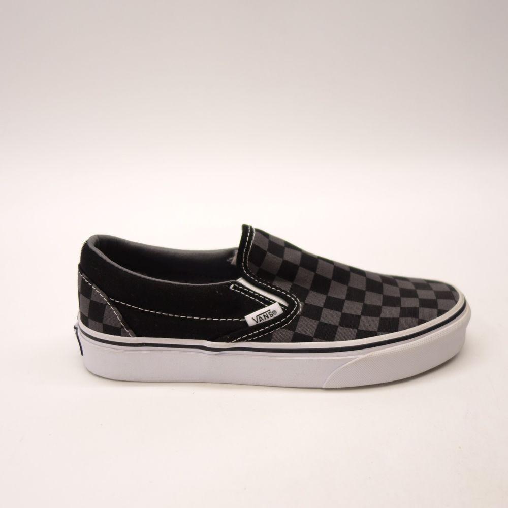 eb494c51f4 New Vans Womens Black Checkerboard Classic Slip On Canvas Shoes Left 7  Right 6.5  VANS  SlipOn