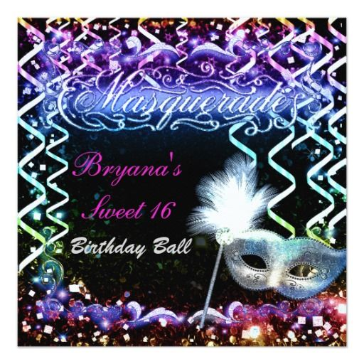 Rainbow Glow Masquerade Mask Birthday Party