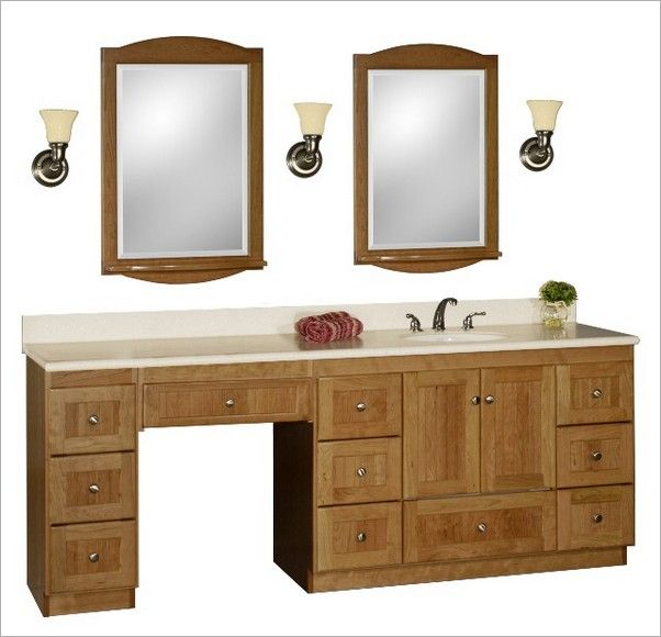 Single Vanity With A Makeup Table Makeup Area Single Sink