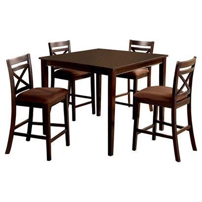 Dining Room Furniture Dallas Amazing Iohomes 5Pcs Dallas Dining Table Set Woodespresso  Espresso Decorating Inspiration