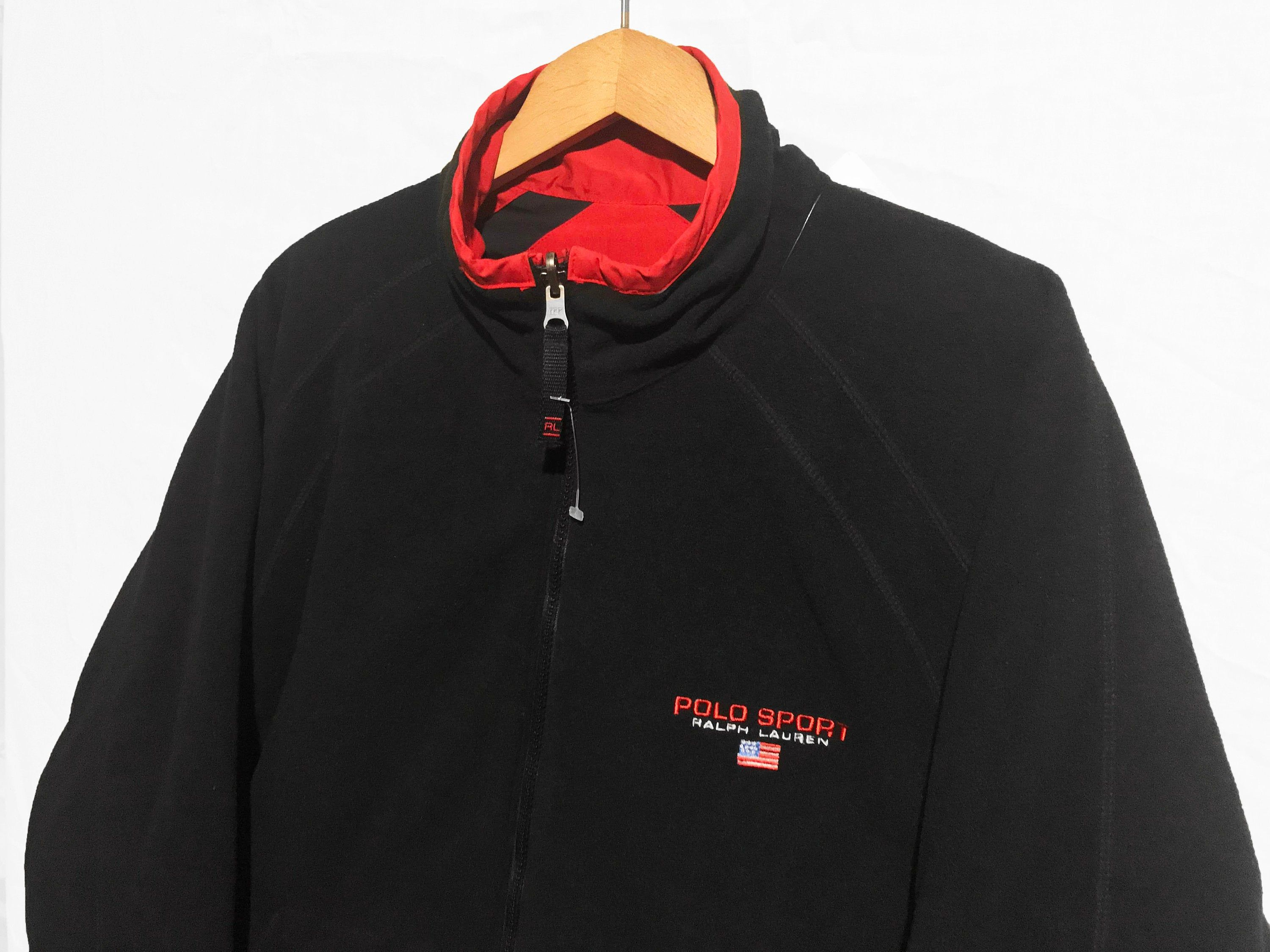Vintage Polo Sport Reversible Jacket Black Red Size M New Etsy Reversible Jackets Vintage Polo Black And Red [ 2250 x 3000 Pixel ]