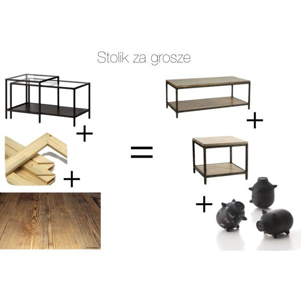 Cheap Coffee Table Ikea Hack By Diana Holod On Polyvore Featuring Interior Interiors