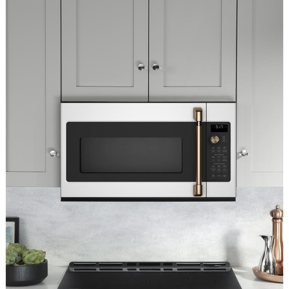 Cafe 1 7 Cu Ft Over The Range Convection Microwave In Matte