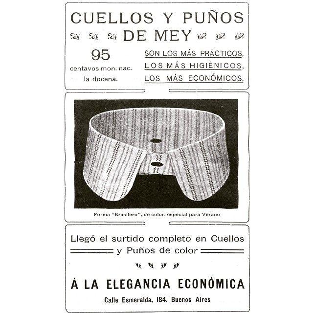 Cuellos y puños de Mey #1903 #argentina #buenosaires #ads #vintage