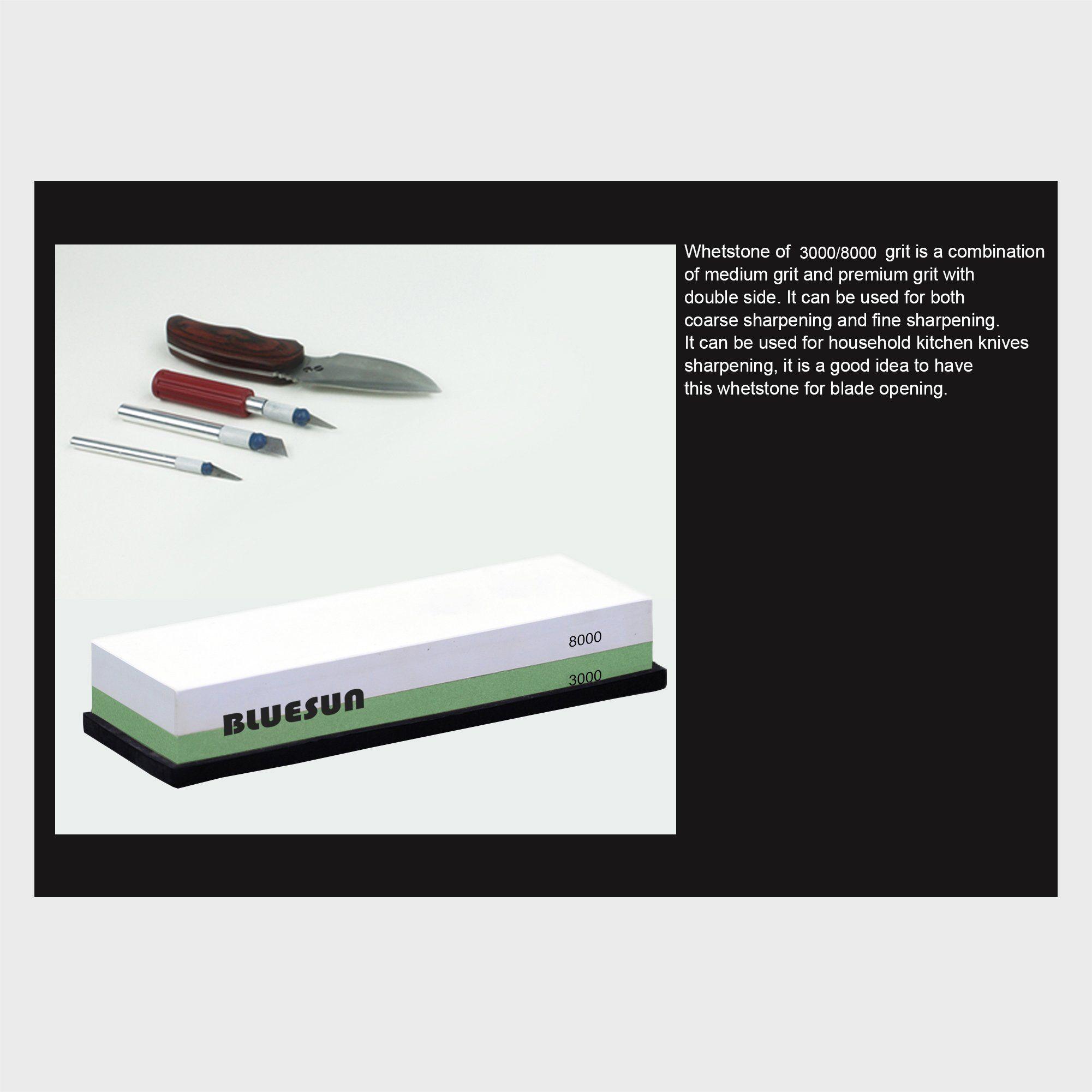 Bluesun Knife Sharpening Sharpener Stone Whetstone Waterstone 3000 8000 Grit Silicon Nonslip B In 2020 Kitchen Knife Sharpening Knife Sharpening Knife Sharpening Stone