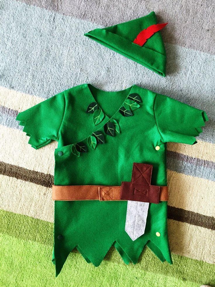 Gratis Fasching Schnittmuster - Peter Pan   Kinder kostüm