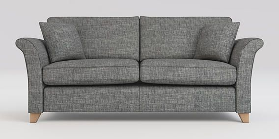 buy brompton medium sofa 3 seats boucle weave dark grey low tapered light from the next uk. Black Bedroom Furniture Sets. Home Design Ideas