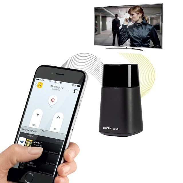 Pronto Peel Black Smart Remote for iOS Universal remote