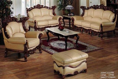 Victorian Leather Living Room Leather Furniture French