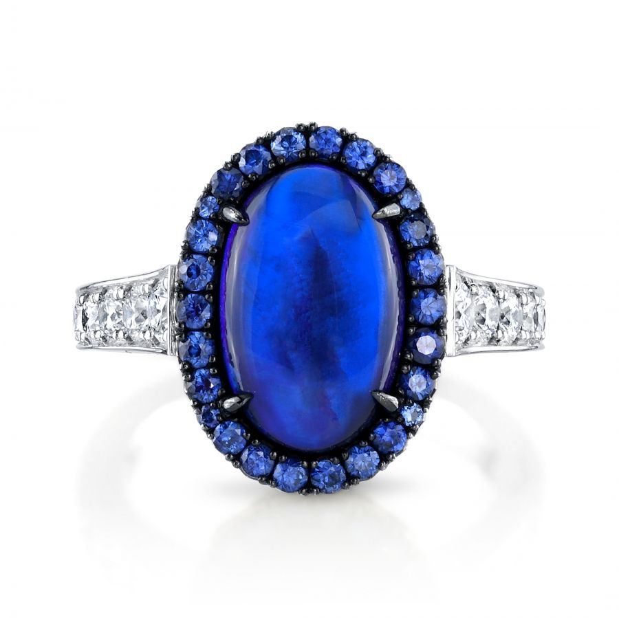 f2f07cab2420a Omi Prive: Opal, Sapphire and Diamond Ring | Fine Opal Jewelry ...
