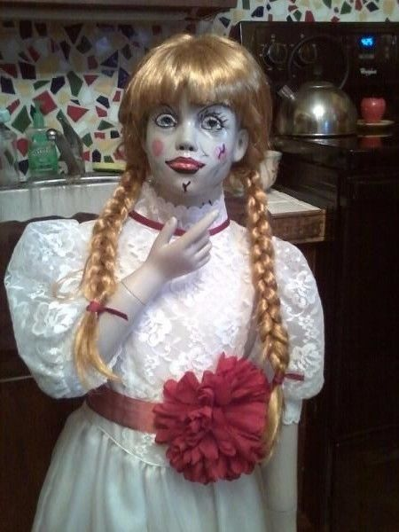 Conjuring Annabelle Doll Life Size Child Fiberglass