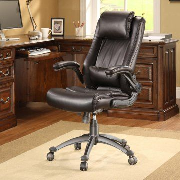 Whalen Flip Up Arm Leather Office Chair Home Office Great Ideas