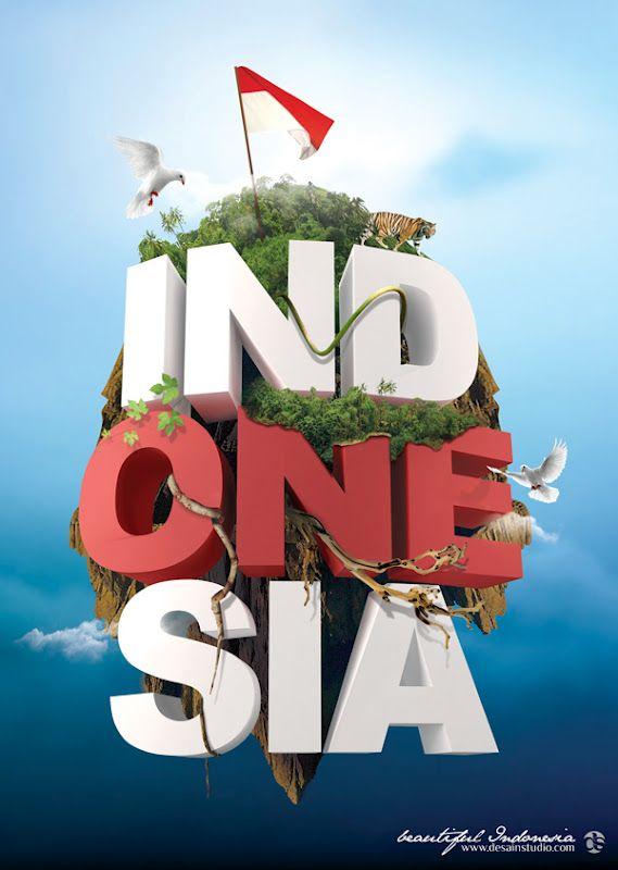 Poster Beautiful Indonesia Poster Grafis Dan Ilustrasi