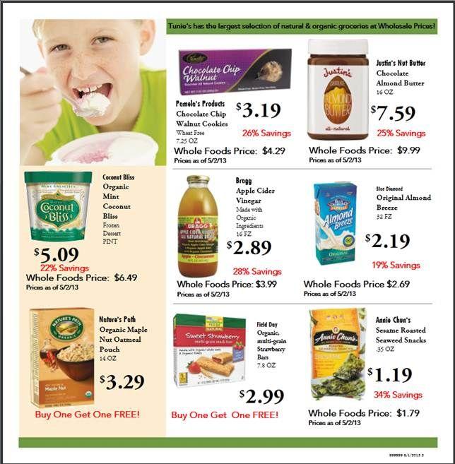 June specials at Tunies #PBG #NaturalFood #Nutrition ...