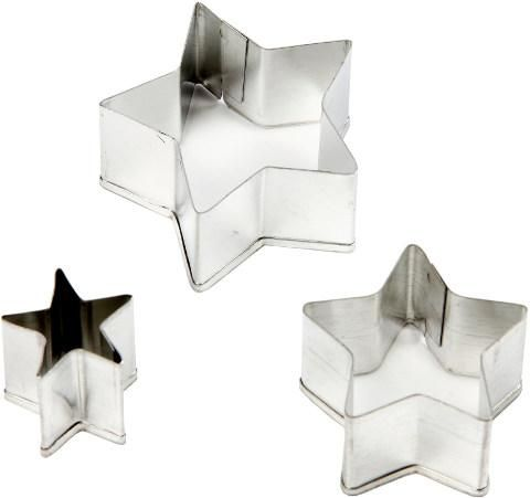 Metallimuotit 3kpl tähdet Sinelli - Askarteluverkkokauppa - Askartelu - Askartelutarvikkeet
