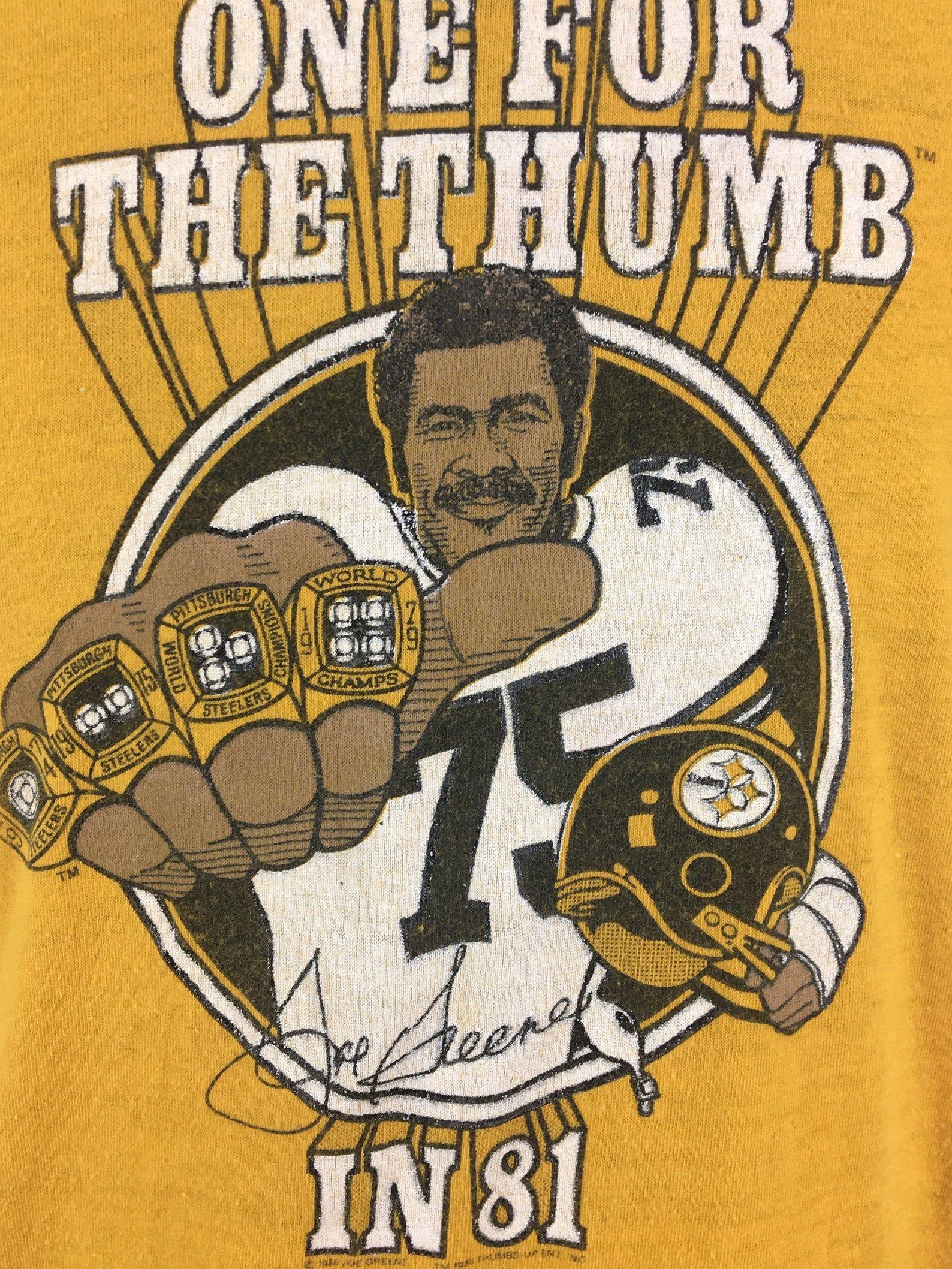 Vintage 1981 Mean Joe Greene Pittsburgh Steelers TShirt