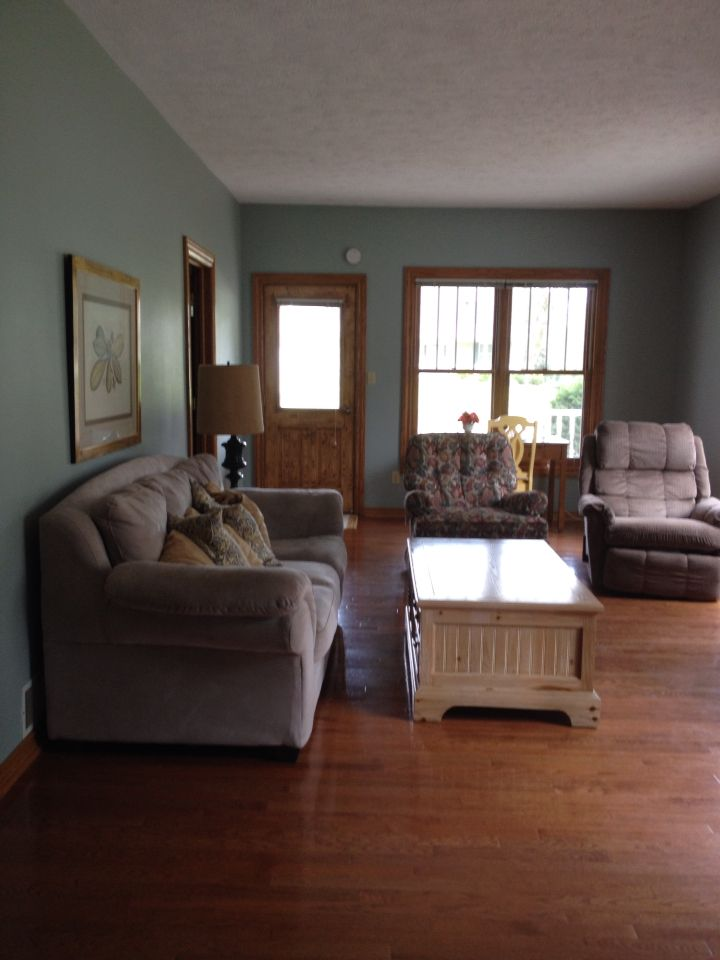 Sherwin williams silvermist with oak trim home decor - Sherwin williams interior paint finishes ...