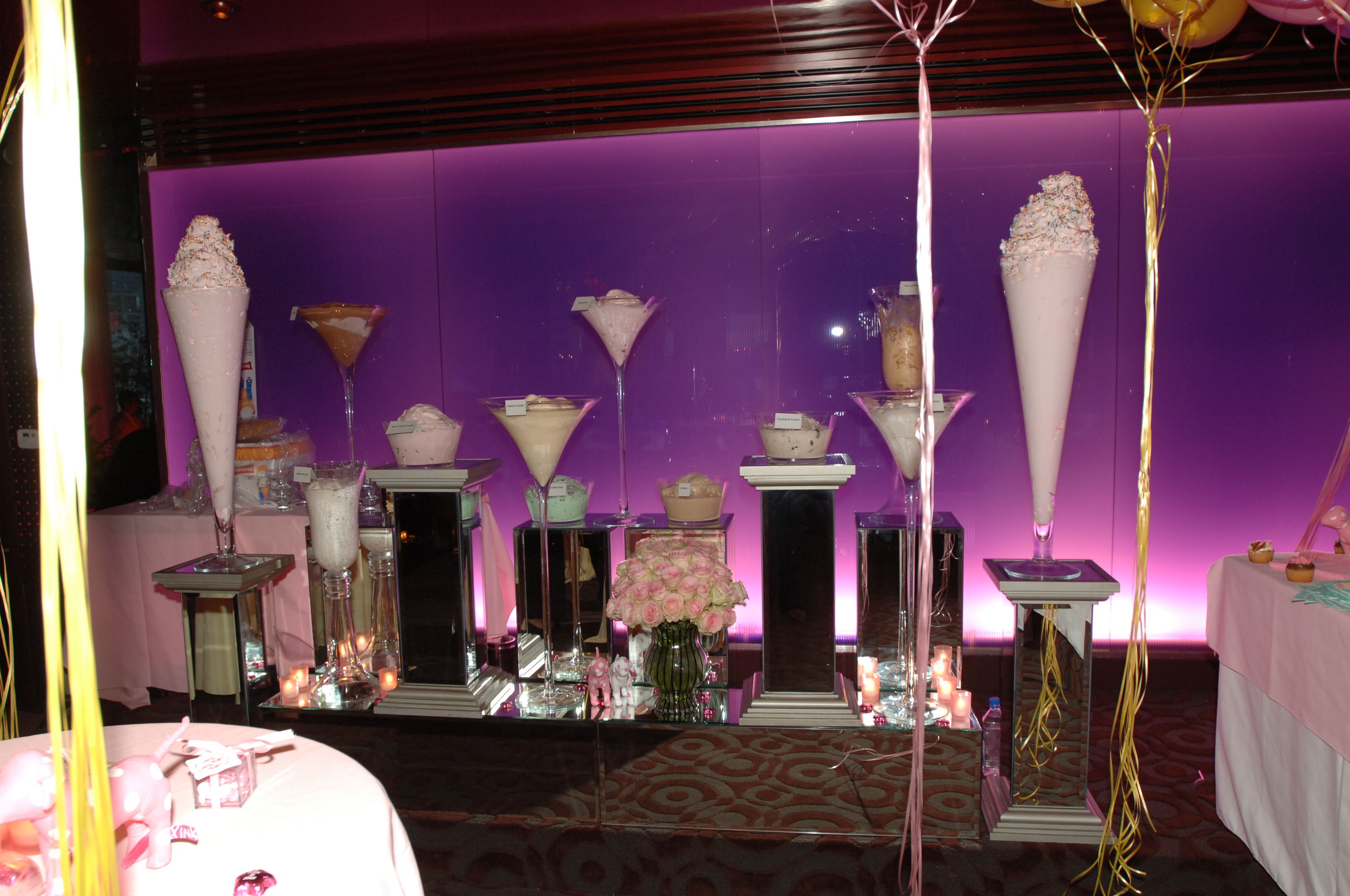 An ice cream lover's dream! We created an ice cream station fit for a princess, rather two ;) #diddysbabyshower