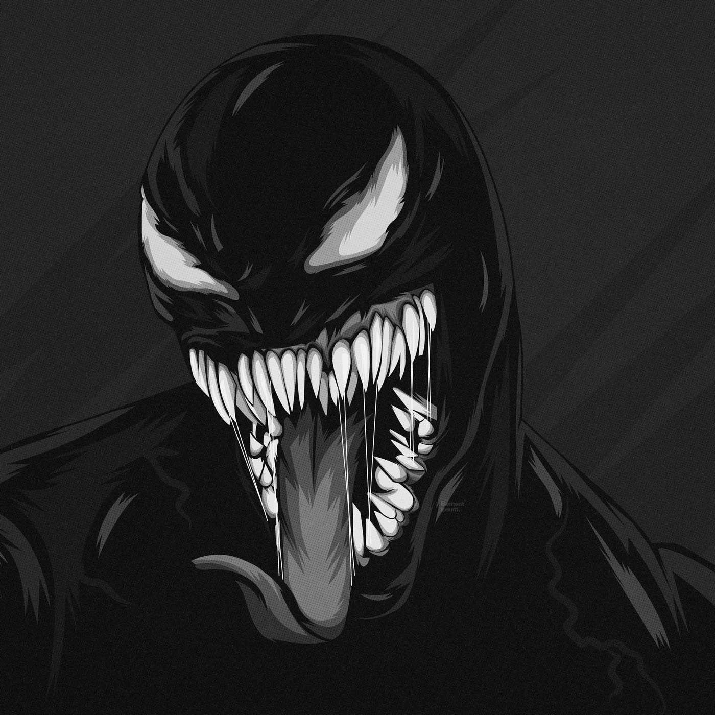Venom Black White Wallpaper Black And White Wallpaper Black And White White Wallpaper