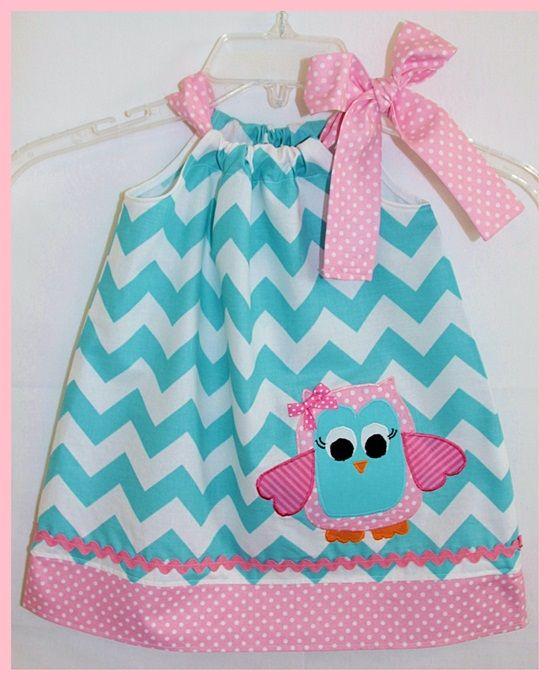 Chevron Whimsical Owl Dress-