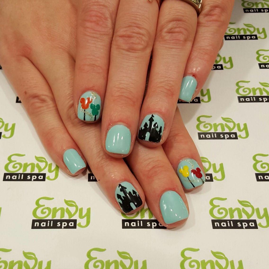 Disney Castle, Mickey Mouse Balloon Nails - Envy Nail Spa   Misc ...