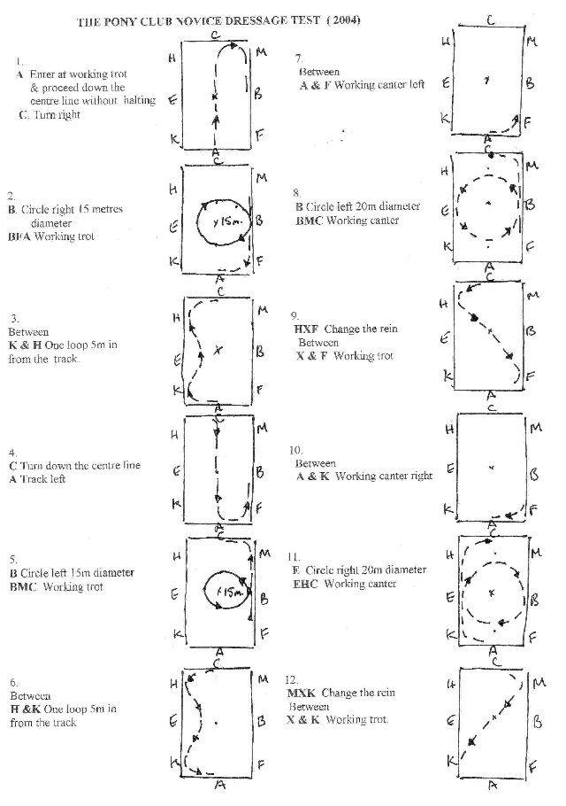 dressage test diagrams