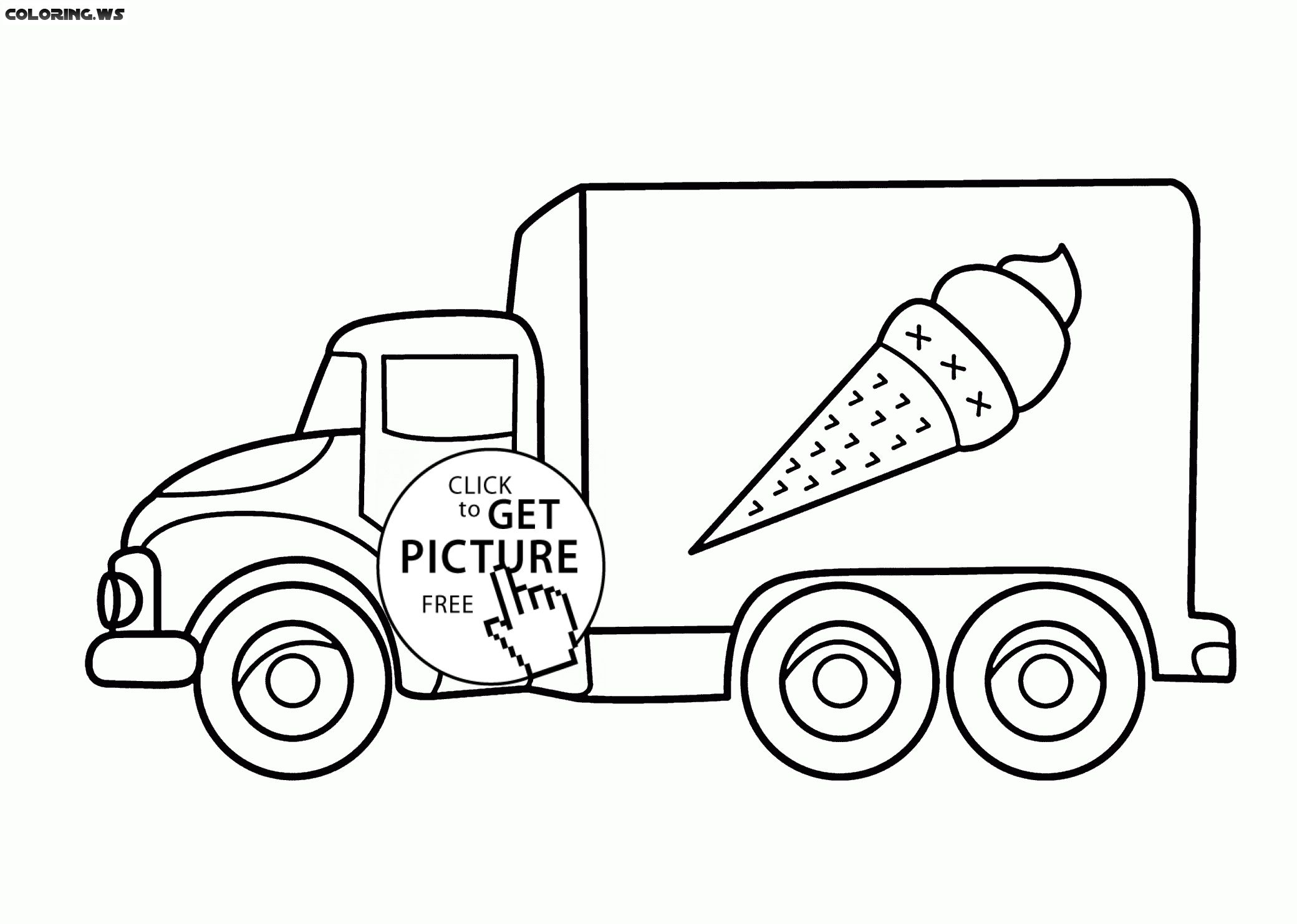 Ice Cream Truck Coloring Pages Monster Truck Coloring Pages