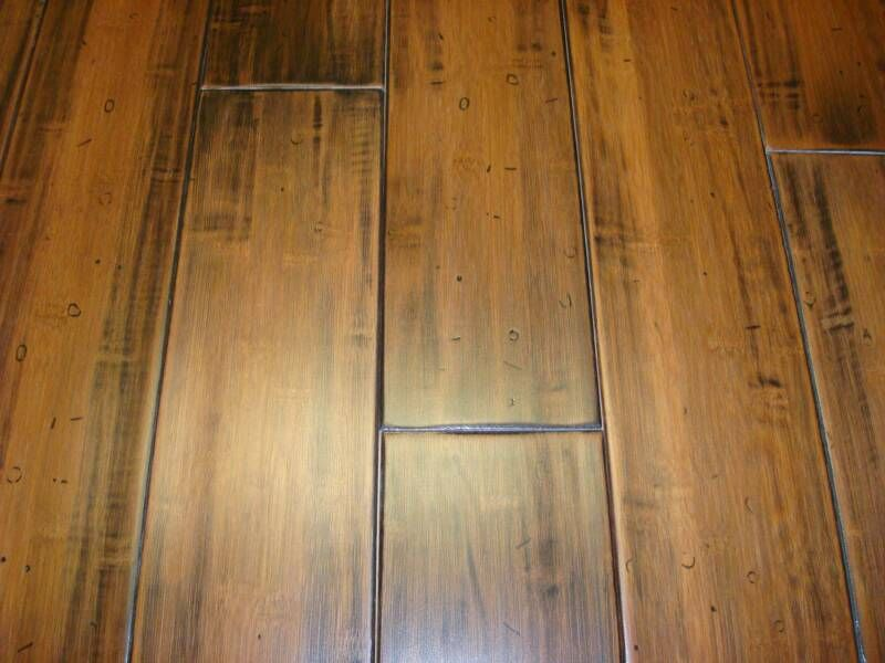 Bamboo Flooring Hand Scraped And Distressed Style Bamboo