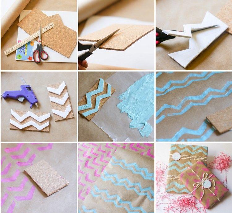 Stempel Selber Machen Anleitung Moosgummi Geschenke Verpacken Pictures