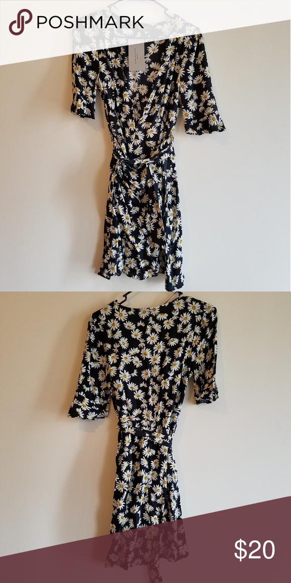 Zara New Daisy Floral Dress S Dresses Skirt Fashion Wrap Dress Floral