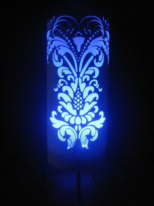 LED encendida Lampara Lampara azulDECORACIONLámparas encendida LED htoQxsrBdC