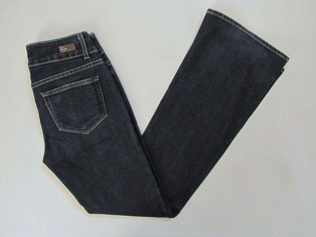"""Paige Premium Denim Jeans 27 Hidden Hills Boot Cut Dusk Dark Indigo Midrise 32""""  #PaigeDenim #HiddenHillsDusk #SaveonYourStyle"""