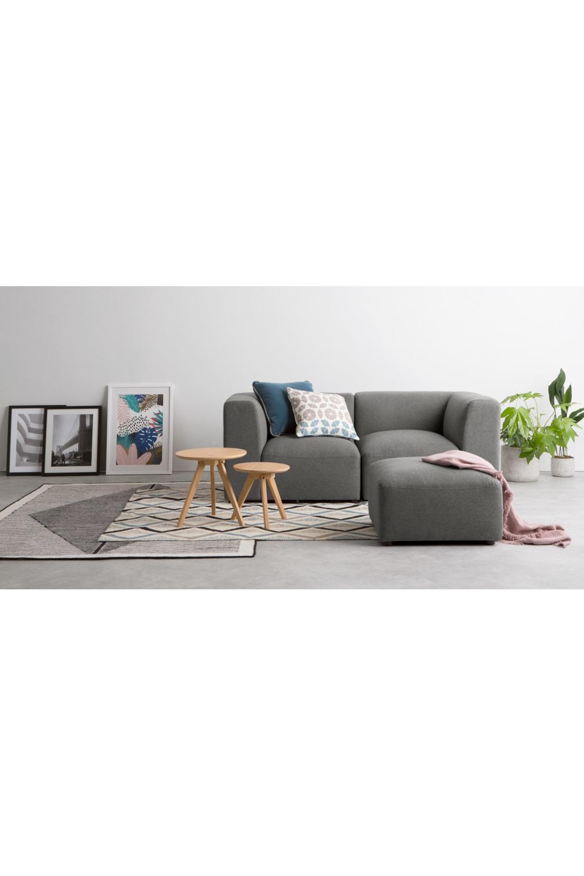 Juno 2 Seater Sofa With Footstool Marl Grey 2 Seater Sofa Sofa Modular Sofa