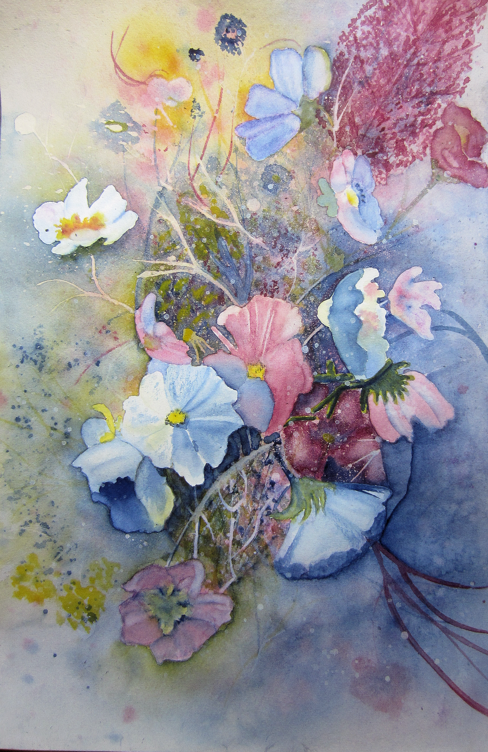 Bouquet Following The Technique From Book Color Harmonies By Rose Edin And Dee