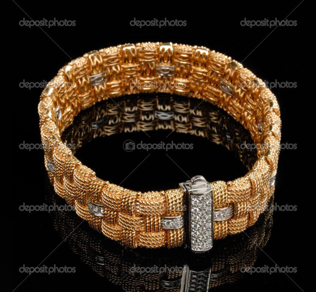 Golden bracelet with diamonds Ольга pinterest search icon