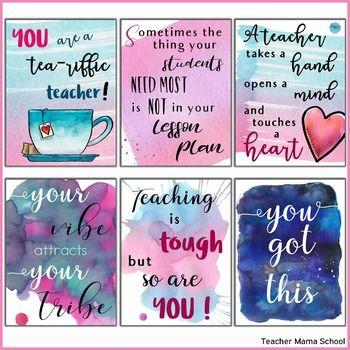 Teacher Quotes Posters Watercolor By Teacher Mama School Teachers Pay Teachers Teacher Appreciation Quotes Teacher Quotes Teacher Encouragement