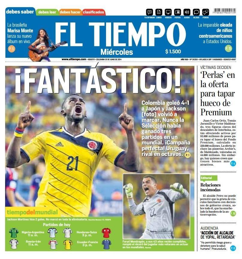 Noticia! Colombia tiene 9 de 9 puntos y pasa a octavos de