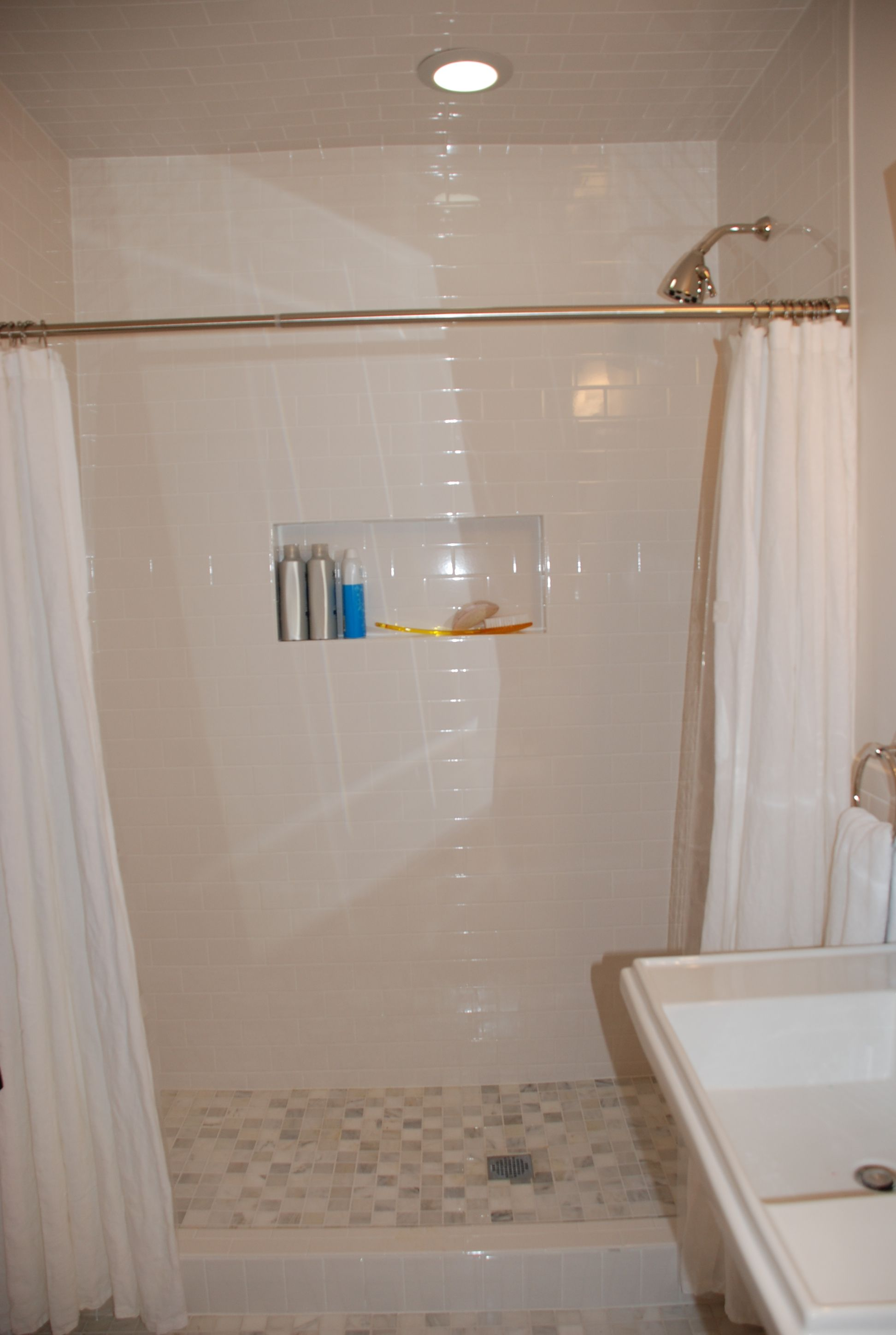 Waiting On The Glass Enclosure To Be Installed Have A Pivoting Transom Coming Will Post Glass Enclosure Bathtub Alcove Bathtub