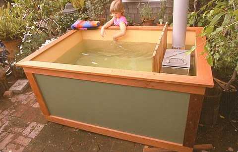 Cheap Homemade Diy Wood Fired Hot Tub Outdoor Tub Tub