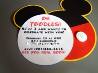 The Cutest Mickey Mouse Invitations Aydans 6th Birthday Party