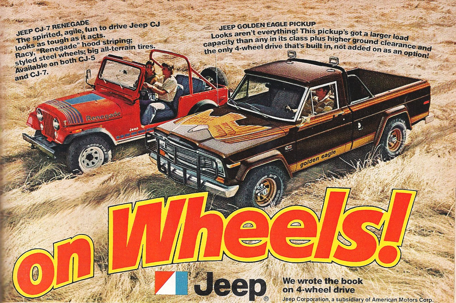 Vintage Jeep Ad Golden Eagle Pickup Vintage Jeep Jeep Renegade Jeep