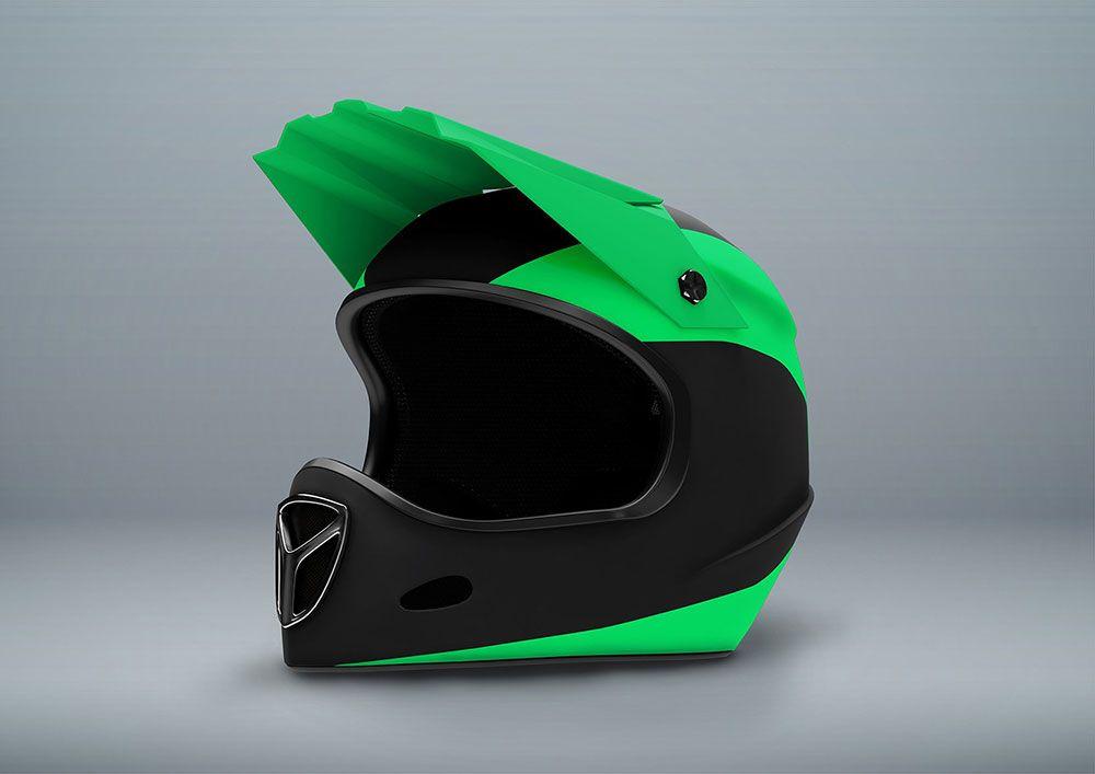 Fullface Motorcycle Helmet Mockup Motorcycle Helmets Scooter Helmet Mockup