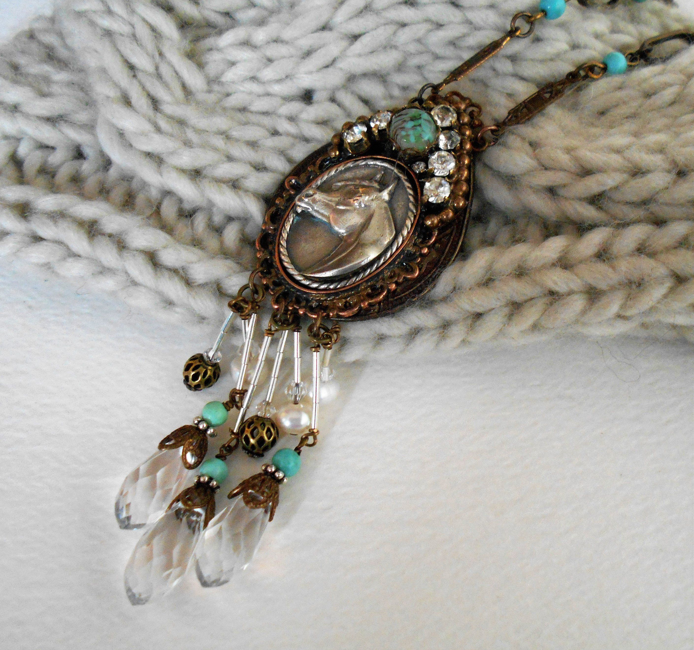 Tear of Assemblage drop necklaces for ladies