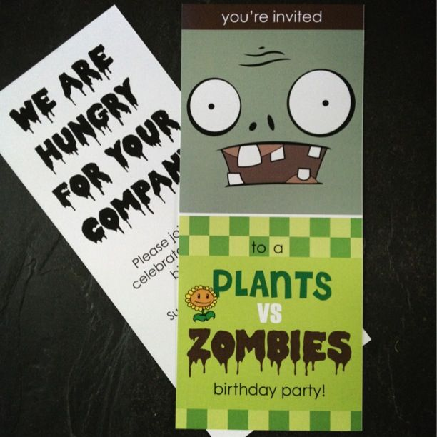 plants vs zombies party invite. | you say its your birthday,