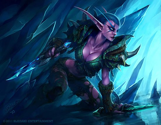 For the world of warcraft night elves