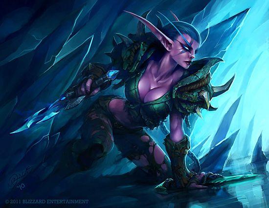 female Wow night elf