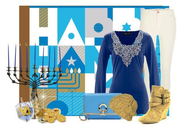 """Happy Hanukkah!"" by stephaniefb ❤ liked on Polyvore featuring Mode, River Island, Dot & Bo, Nine West, Salvatore Ferragamo und Free People"