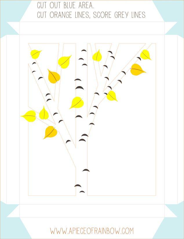 diy printable birch shadow box templates patterns stencils free