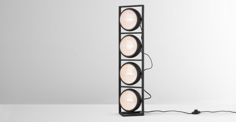 Harley Floor Lamp, Industrial Black